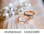 Gold Wedding Rings On The...