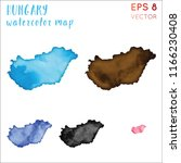 hungary watercolor country map. ...   Shutterstock .eps vector #1166230408