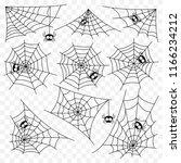 set of spider web vector... | Shutterstock .eps vector #1166234212