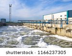 basin for sewerage water... | Shutterstock . vector #1166237305