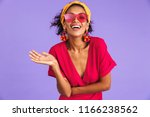 portrait of a cheerful young... | Shutterstock . vector #1166238562