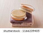 brush for dry body massage  ... | Shutterstock . vector #1166239405