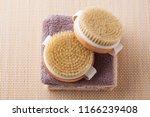 brush for dry body massage  ... | Shutterstock . vector #1166239408