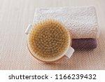 brush for dry body massage  ... | Shutterstock . vector #1166239432