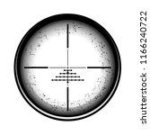 optical sight on a white... | Shutterstock . vector #1166240722