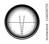 optical sight on a white... | Shutterstock . vector #1166240725