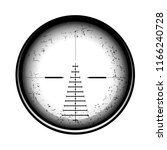optical sight on a white... | Shutterstock . vector #1166240728