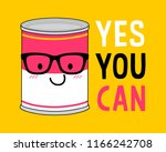 yes you can  typography design ... | Shutterstock .eps vector #1166242708