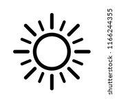 sun icon  sunshine sun line... | Shutterstock .eps vector #1166244355