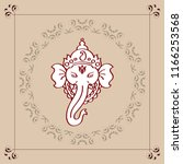 ganesha the lord of wisdom... | Shutterstock .eps vector #1166253568