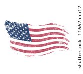 american flag in grunge style . | Shutterstock . vector #1166255512