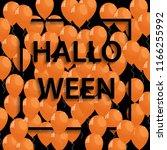 vector frame with orange... | Shutterstock .eps vector #1166255992