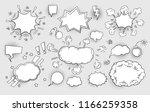 set of speech bubbles comic... | Shutterstock .eps vector #1166259358