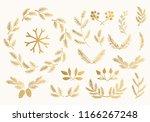 set of golden fir  spruce  pine ... | Shutterstock .eps vector #1166267248