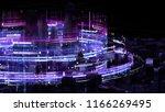 3d render abstract city... | Shutterstock . vector #1166269495
