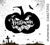 hallowen card with angry... | Shutterstock .eps vector #1166272552