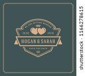 wedding invitation card design...   Shutterstock .eps vector #1166278615