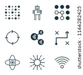 machine icons set with loop...   Shutterstock . vector #1166282425
