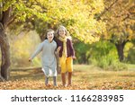 children's fashion in autumn  | Shutterstock . vector #1166283985
