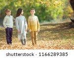 children's fashion in autumn  | Shutterstock . vector #1166289385