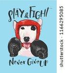 funny dog boxer athlete...   Shutterstock .eps vector #1166295085