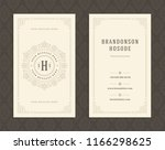 luxury business card and... | Shutterstock .eps vector #1166298625