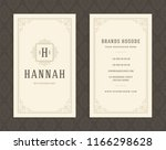luxury business card and... | Shutterstock .eps vector #1166298628