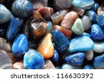 gemstones background - stock photo