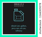 diesel can gallon  jerry can ... | Shutterstock .eps vector #1166305078