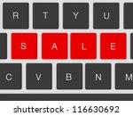 red sale keys for shopping...   Shutterstock . vector #116630692