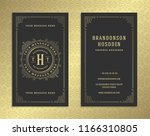 luxury business card and... | Shutterstock .eps vector #1166310805