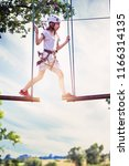 trip around the rope park | Shutterstock . vector #1166314135