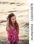 smiling happy young girl... | Shutterstock . vector #1166315878