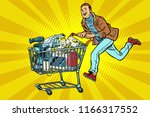 man on the sale of home...   Shutterstock .eps vector #1166317552
