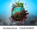 ecology ang world saving... | Shutterstock . vector #1166324845