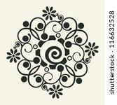 ornate floral decoration ... | Shutterstock .eps vector #116632528