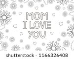 mom i love you   card with... | Shutterstock .eps vector #1166326408