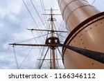 old ships rigging and steam... | Shutterstock . vector #1166346112
