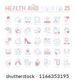 collection of vector flat icons ... | Shutterstock .eps vector #1166353195