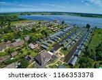 aerial view of giethoorn... | Shutterstock . vector #1166353378