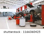 car repair station with soft... | Shutterstock . vector #1166360425