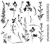 vector set of ink stamp of... | Shutterstock .eps vector #1166382352