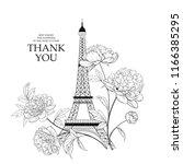 wedding invitation card... | Shutterstock .eps vector #1166385295