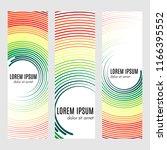 set of abstract vertical header ... | Shutterstock .eps vector #1166395552