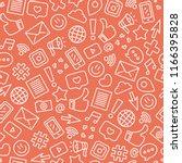 social media seamless pattern.... | Shutterstock .eps vector #1166395828