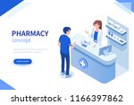 doctor pharmacist and patient... | Shutterstock .eps vector #1166397862