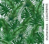 tropical leaves seamless...   Shutterstock . vector #1166398945