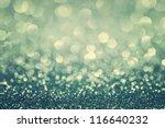 Blue Glitter Christmas Abstrac...