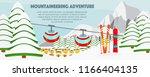 ski resort banner flat vector... | Shutterstock .eps vector #1166404135