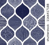 cute blue and white pattern.... | Shutterstock .eps vector #1166417188